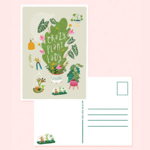 Crazy Plant Lady A5card